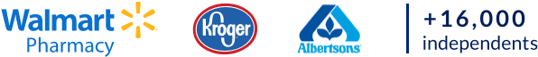 Walmart Kroger Albertsons | 16,000+ Independent Pharmacies